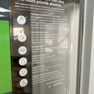 Affiche pour fenêtre electrostatique