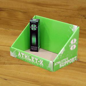 Impression de boite présentoir pour comptoir Athlet-X