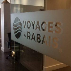 Impression bande givrée pour vitre Voyages à Rabais